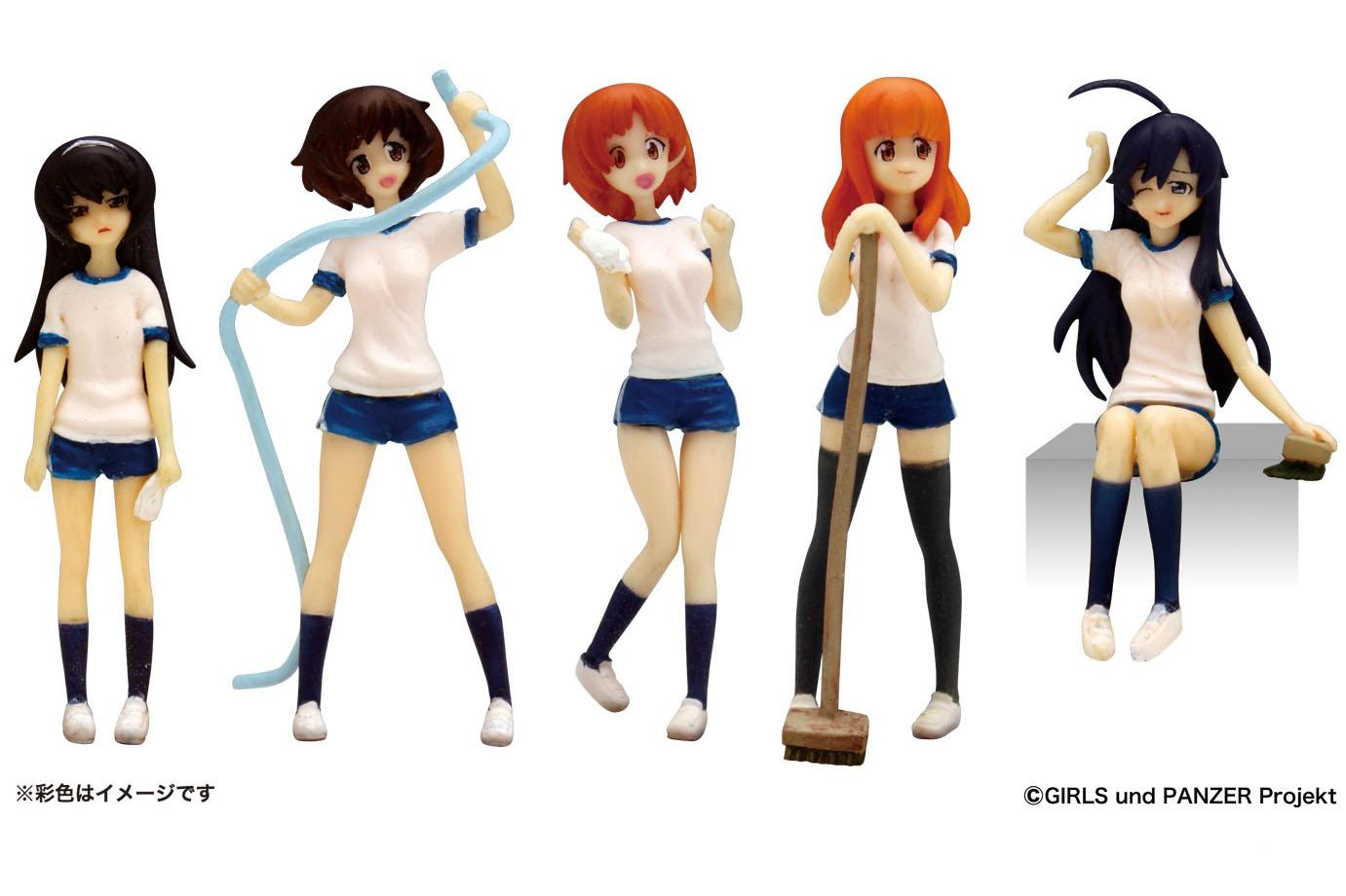 1/35 Girls und Panzer Ankou Team Figure Set Cleaning Ver.