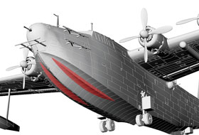 1/72 Kawanishi H8K2 Type 2 Flying Boat Model 12