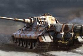1/35 King Tiger Sd.Kfz.182 Henschel Turret Pz.Abt.505 w/Zimmerit