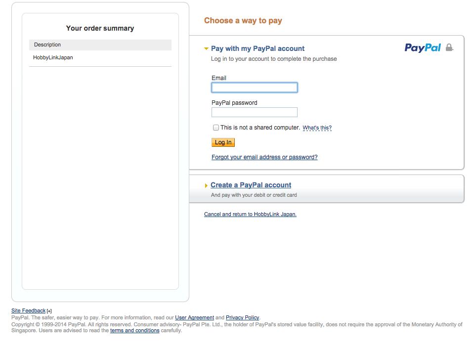 Paypal Billing Agreement Hobbylink Japan
