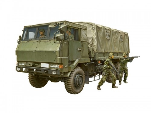 1/72 JGSDF 3 1/2t Truck Armor Reinforced Type w/6pcs Figures