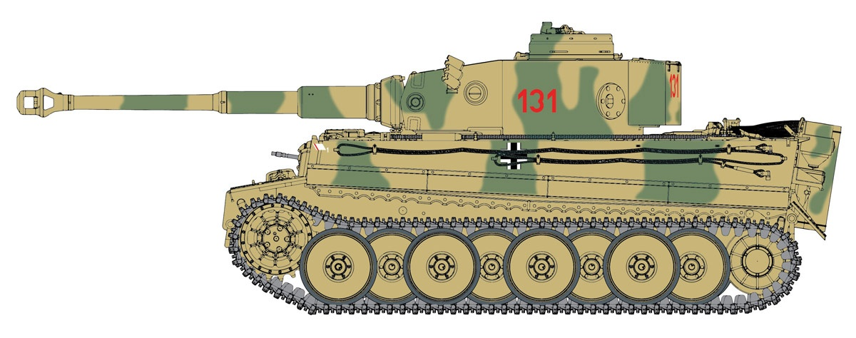 1/35 WW.II Tiger I 504 Heavy Tank Battalion 131 Tunisia