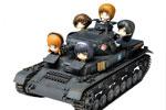 1/35 Girls und Panzer: Panzer IV Ausf. D Ankou Team w/Deformed Ankou Team (Panzer Jacket ver.)