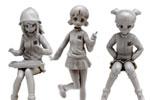1/35 Girls und Panzer The Movie: Keizoku School Figure Set