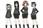 1/35 Girls und Panzer The Movie: University Selection Team Figure Set